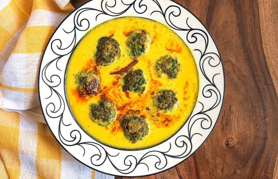 Rajasthani Kadhi with Palak Pakoda Recipe